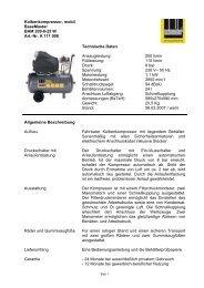 Kolbenkompressor, mobil BaseMaster BAM 200-8-25 W Art.-Nr. A ...