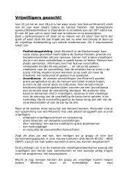 Gezocht: Vrijwilligers - VTi