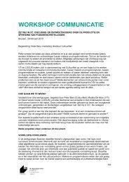 WORKSHOP COMMUNICATIE - VTi