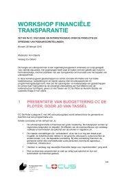 Workshop 'financiële transparantie' - VTi