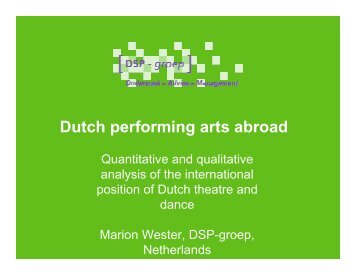 Dutch performing arts abroad - VTi