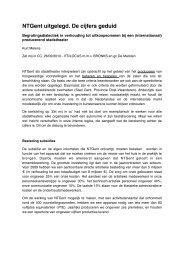 'NTGent uitgelegd. De cijfers geduid' door Kurt Melens - VTi