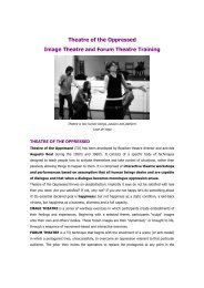 Theatre of the Oppressed Image Theatre and Forum Theatre ... - VTi