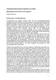 Tweestromenland tussen repertoire en creatie - VTi