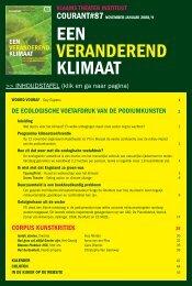 Courant 87: Een veranderend klimaat - VTi