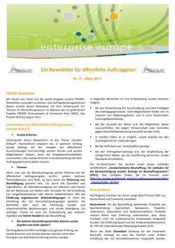 PRISME-Newsletter 03/2011 - Auftragsberatungszentrum Bayern e.V.