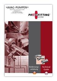Edelstahl-Pressfittings - AVAG-Pumpen
