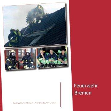 Feuerwehr Bremen Jahresbericht 2012