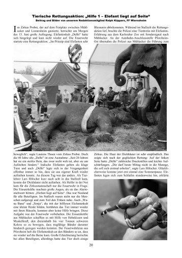 """20 Tierische Rettungsaktion: """"Hilfe 1 – Elefant liegt auf Seite"""""""