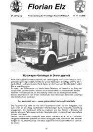 Florian Elz - Ausgabe 48 - Freiwillige Feuerwehr Elz