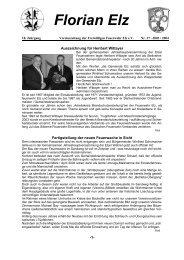Florian Elz - Ausgabe 37 - Freiwillige Feuerwehr Elz