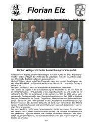 Florian Elz - Ausgabe 52 - Freiwillige Feuerwehr Elz