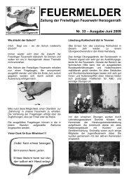FEUERMELDER - Freiwillige Feuerwehr Herzogenrath