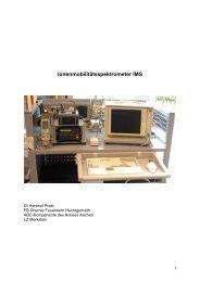 tsspektrometer (IMS) - Freiwillige Feuerwehr Herzogenrath