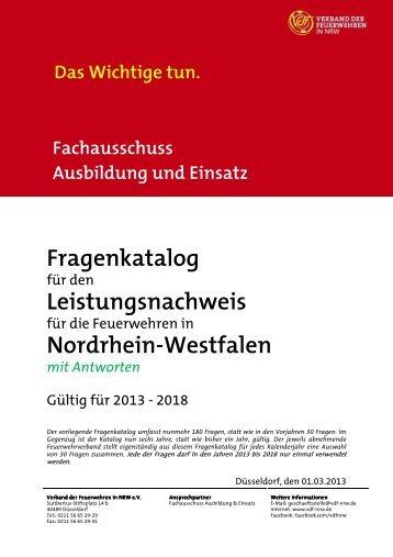 2013 Fragen und Antworten Leistungsnachweis FF