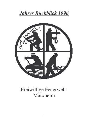 Jahresrückblick 1996 - Feuerwehr Marxheim