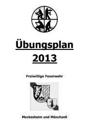 Übungsplan 2013 - Feuerwehr Meckesheim