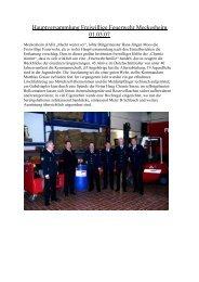 Bericht RNZ / Amtsblatt - Feuerwehr Meckesheim