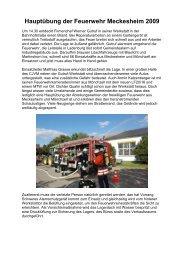 Hauptübung der Feuerwehr Meckesheim 2009