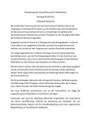 Bericht Hauptübung 2012 - Feuerwehr Meckesheim