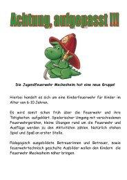 Flyer Kinderfeuerwehr - Feuerwehr Meckesheim