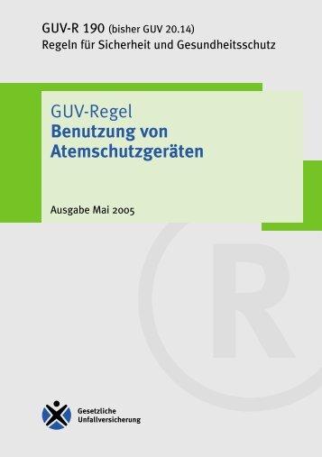 """GUV Regel """"Benutzung von Atemschutzgeräten"""" - Feuerwehr Meiches"""