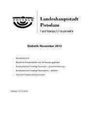 Monatsstatistik November 2012 - Feuerwehr Potsdam