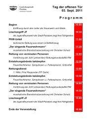 P r o g r a m m - Feuerwehr Potsdam