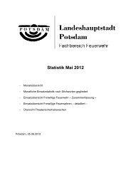 Monatsstatistik Mai 2012 - Feuerwehr Potsdam