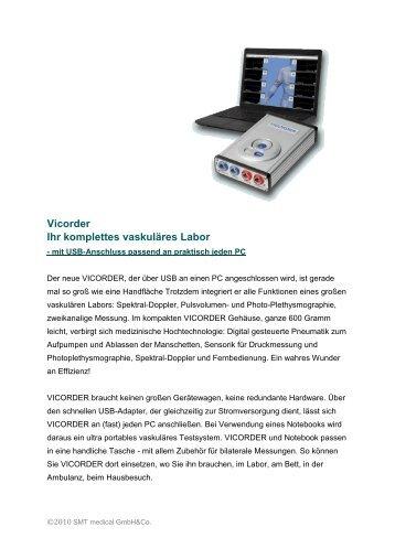 Vicorder Ihr komplettes vaskuläres Labor