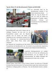Tag der offenen Tür der Berufsfeuerwehr Potsdam am 06.09.2008