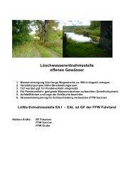 Löschwasserentnahmestelle offenes Gewässer - Feuerwehr Potsdam