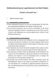 Wettbewerbsordnung der Jugendfeuerwehr der Stadt Potsdam