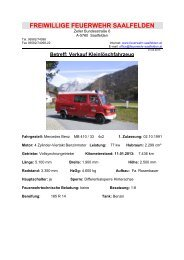 Datenblatt! - Freiwillige Feuerwehr Saalfelden