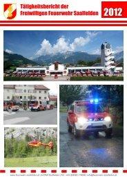 Tätigkeitsbericht 2012 - Freiwillige Feuerwehr Saalfelden