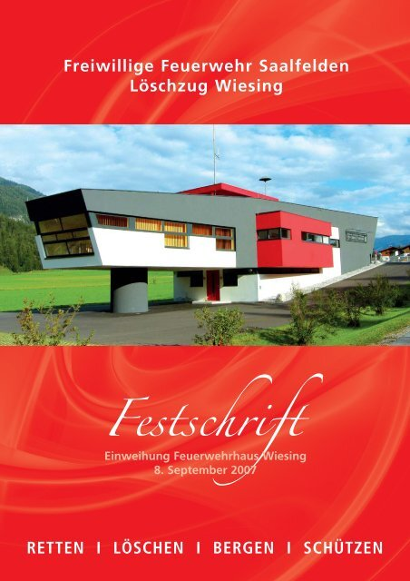 Festschrift - Freiwillige Feuerwehr Saalfelden