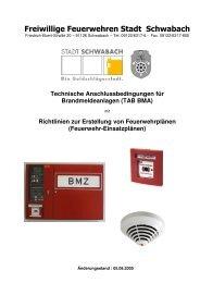 Technische Anschlussbedingungen für Brandmeldeanlagen