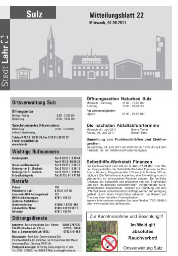 Mitteilungsblatt 22 / 2011 - Stadt Lahr