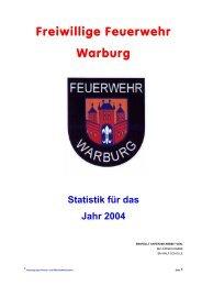 Jahresbericht - Freiwillige Feuerwehr Warburg