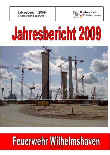 Jahresbericht 2009 - Kreisfeuerwehrverband Wilhelmshaven