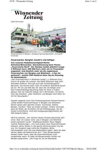 Seite 1 von 2 ZVW - Winnender Zeitung 08.04.2008 http://www ...