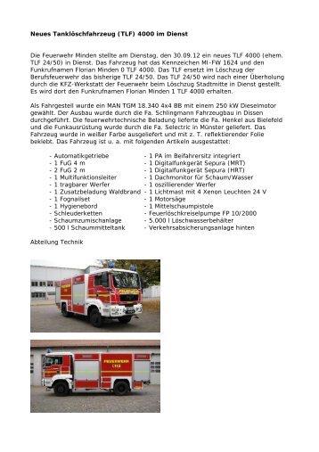 detaillierter Bericht hier - Feuerwehr Minden