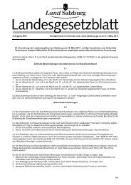 Landesgesetzblatt - Land Salzburg