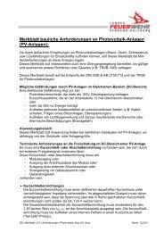 Merkblatt bauliche Anforderungen an Photovoltaik-Anlagen (PV ...