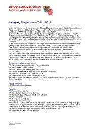 Lehrgang Truppmann - Teil 1 2013 - Freiwillige Feuerwehr Weilheim
