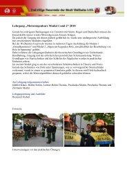 "Lehrgang ""Motorsägenkurs Modul 1 und 2"" 2010 - Freiwillige ..."