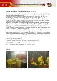 """Lehrgang """"Träger von Chemikalienschutzanzüge CSA"""" 2011 Am ..."""