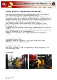"""""""Träger von Chemikalienschutzanzüge CSA"""" 2012 - Freiwillige ..."""