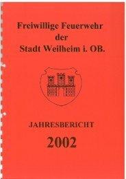 2002 - Freiwillige Feuerwehr Weilheim