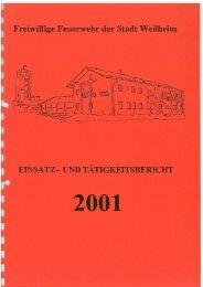 2001 - Freiwillige Feuerwehr Weilheim